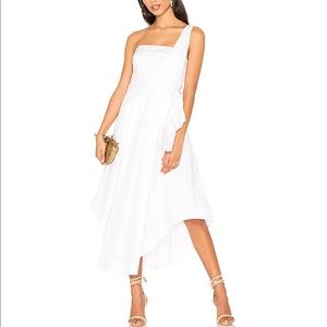 Kendall and Kylie Revolve One Shoulder Midi Dress!